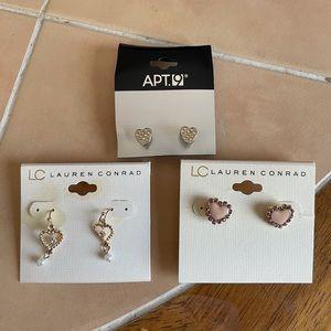 Heart Earrings Bundle